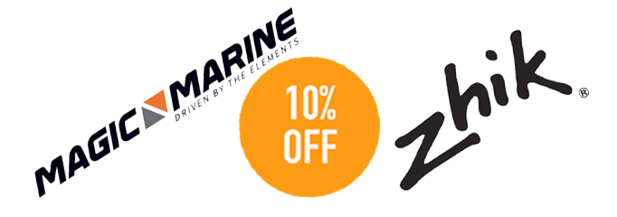 Extra discount off of Magic Marine and Zhik