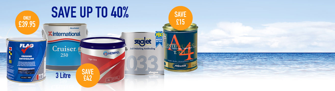 Save up to 40% on Antifoul
