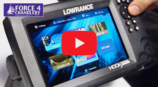 Lowrance Hook Reveal Chartplotter Fishfinder Combos with FishReveal technology - ideal for fishermen