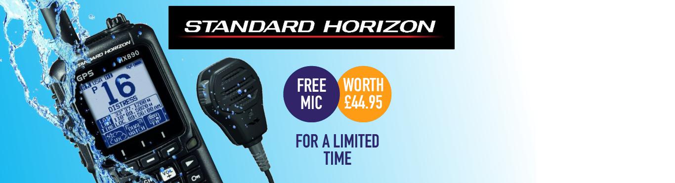 Free Speaker Mic with Standard Horizon HX890e