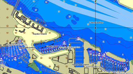 MAXN+LUK Harbour and approach details
