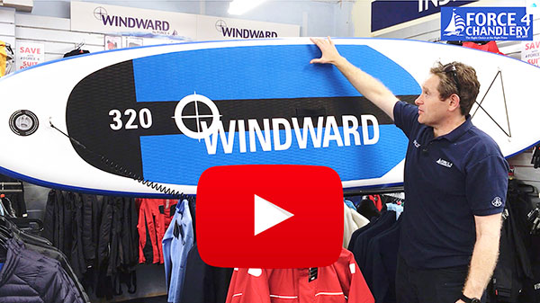 Windward Inflatable Stand Up Paddleboard - Exclusive Force 4 quality SUP without big brand prices.
