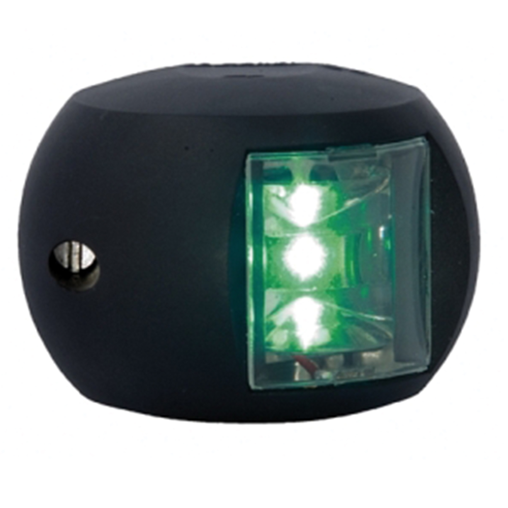 Aquasignal Series 34 LED Starboard Light (12-24V Black) Navigation Light