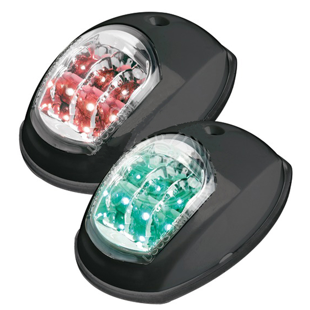 EVOLED Port & Starboard LED Nav Lights - Black (Pair)