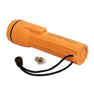 SOLAS Approved Waterproof Torch c/w Bulb