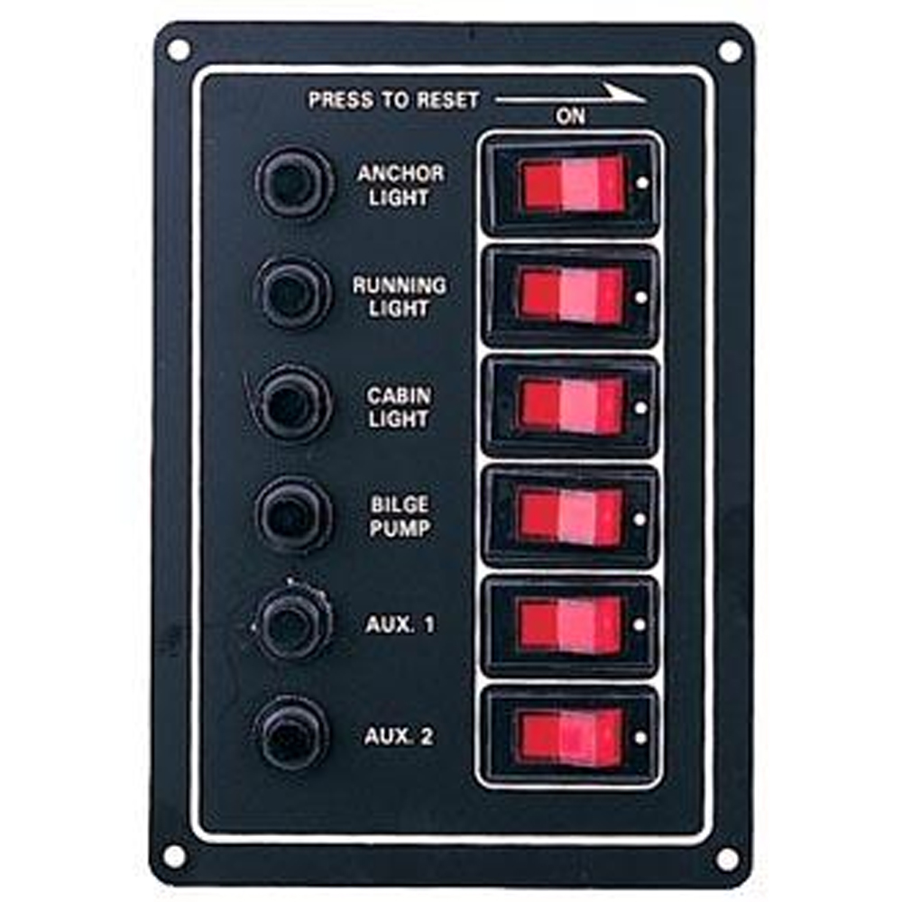 6 Switch Circuit Breaker panel