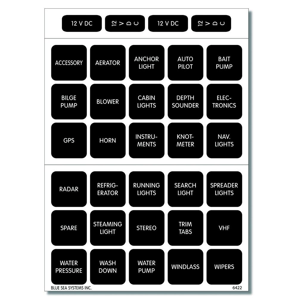 30 Square Panel Labels