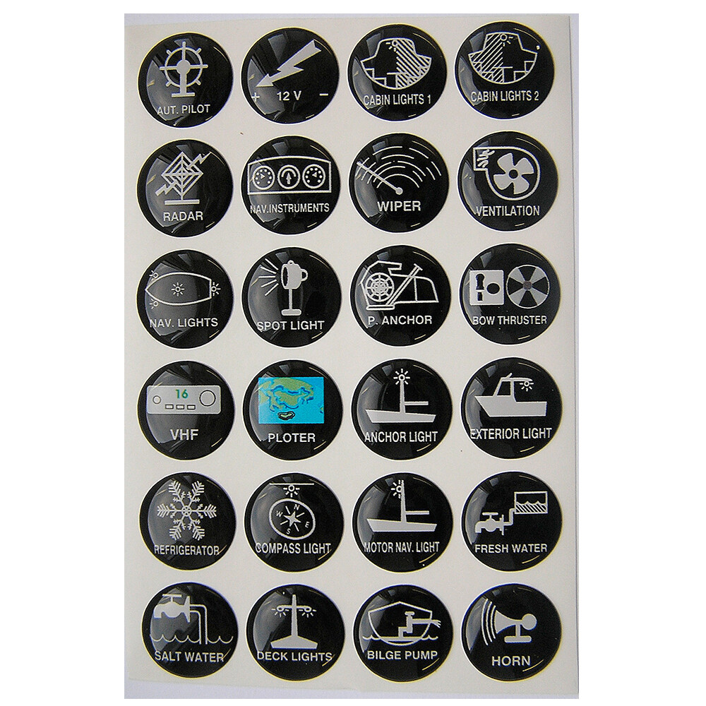 Round Switch Panel Labels