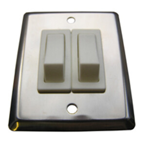 S/S Double Light Switch