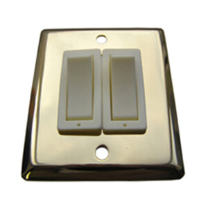 Brass Double Light Switch