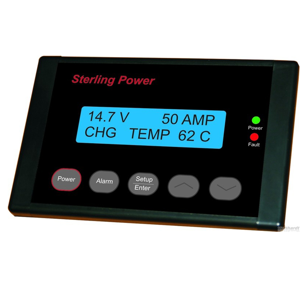 Alternator to Battery Charger Remote Display & Control