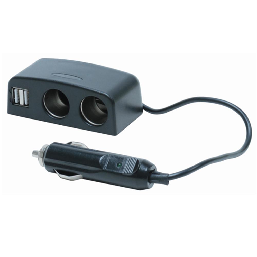 Dual 12V & USB Adaptor