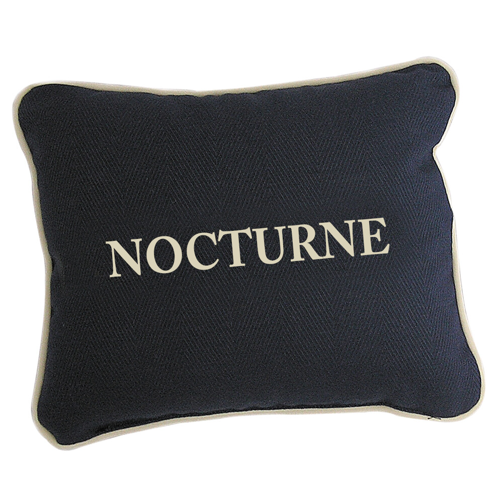 Personalised Navy Linen Cushion