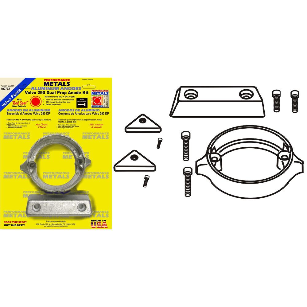 Engine Anode Kit w/Indicator Aluminium - Volvo 290DP