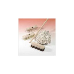Natural Fibre Bristle Brush Head - with Free 4 Foot Handle