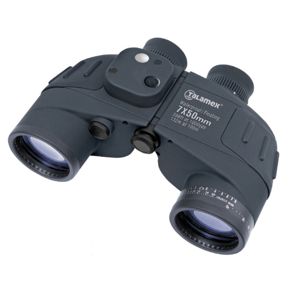 Deluxe 7x50 Waterproof Floating Compass Binoculars
