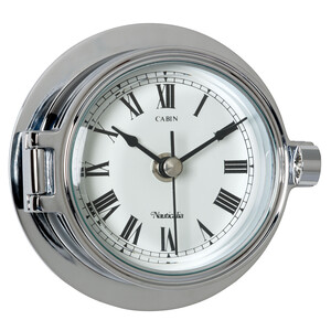 Riviera 12cm Chrome Clock