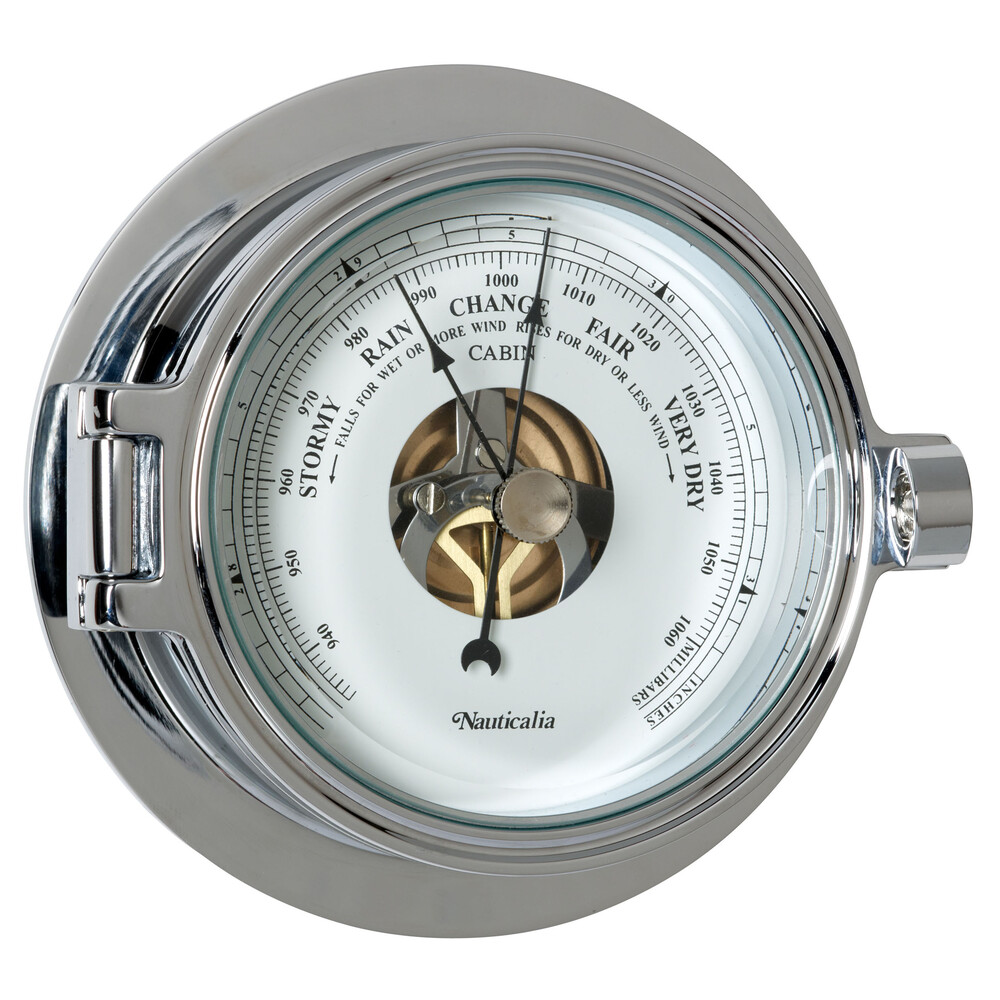 Riviera 12cm Chrome Barometer