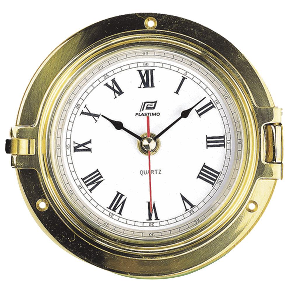 "4 1/2"" Brass Porthole Clock"
