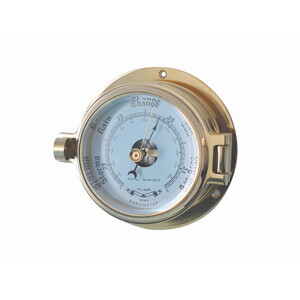 "3"" Brass Channel Barometer"