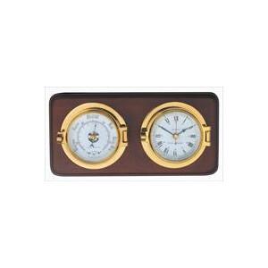 Mounted Channel Clock & Barometer Set