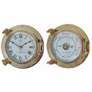 "6"" Brass Clock & Barometer Set (350068/69)"