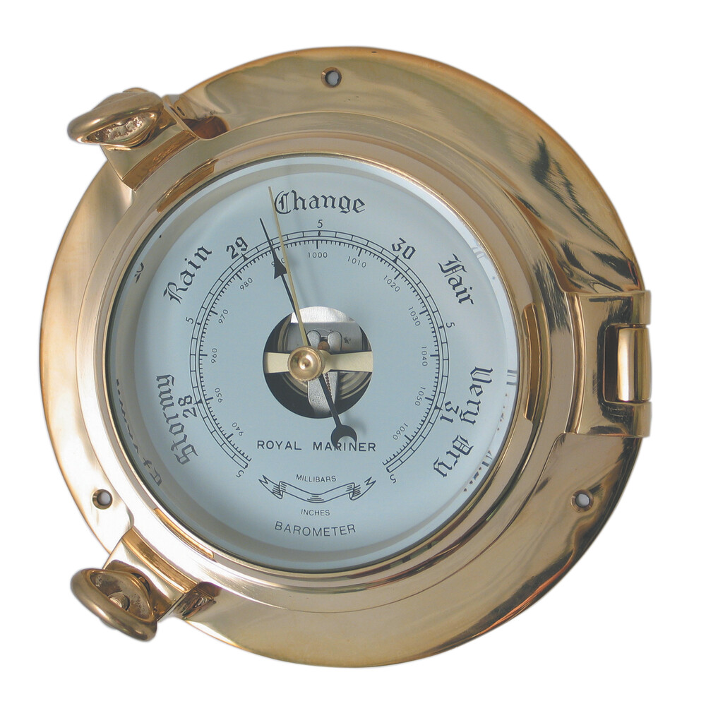 "4.5"" Brass Porthole Barometer"
