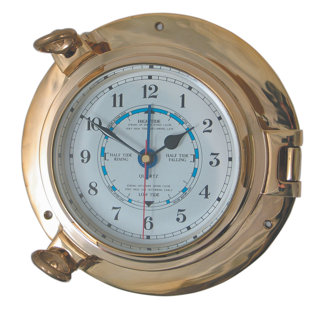 "4.5"" Brass Porthole Tide Clock"