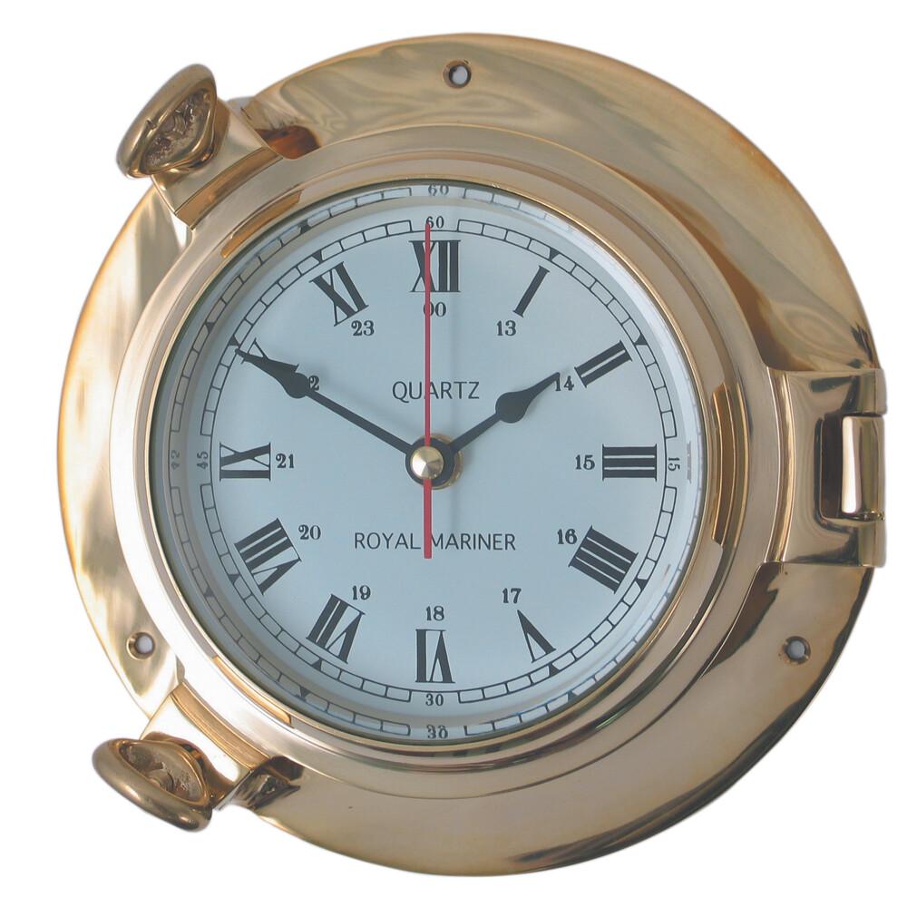 "4.5"" Brass Porthole Clock"