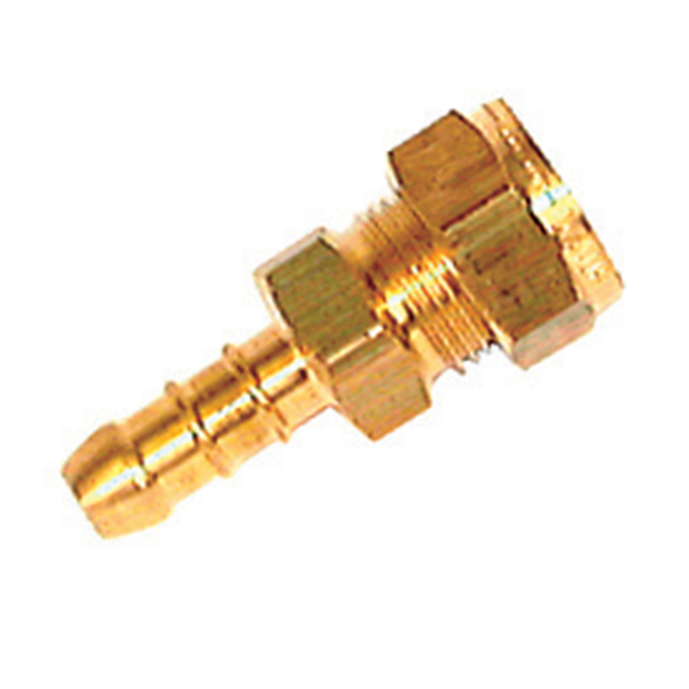 "Brass Hose Nozzle 5/16"" to 8mm Hose"