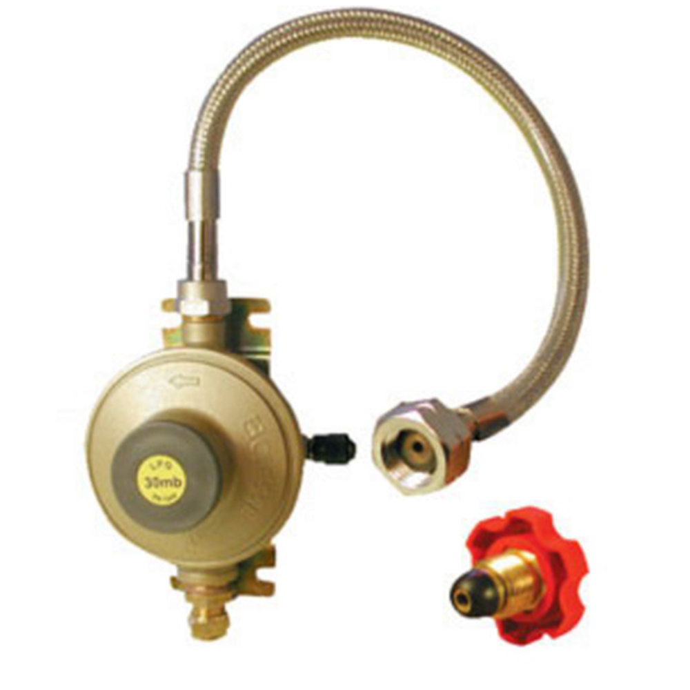 Copper Regulator & Stainless Steel Hose System