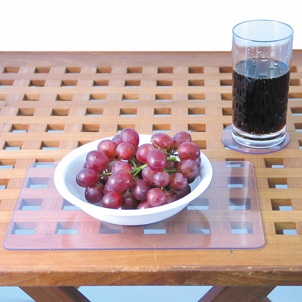 Clear Non-Slip Placemats & Coasters Set