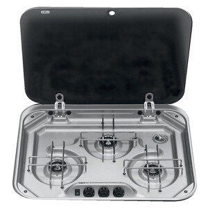3-Burner Hob + Glass Lid