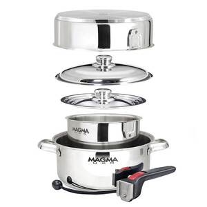 Stainless Steel 6 Piece Nesting Cookware Set
