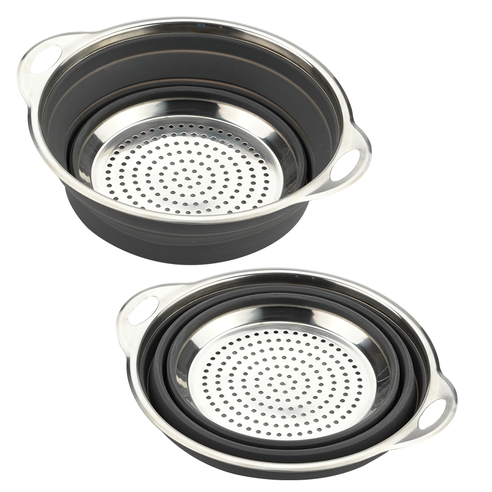 Silicone/Stainless Collapsible Colander