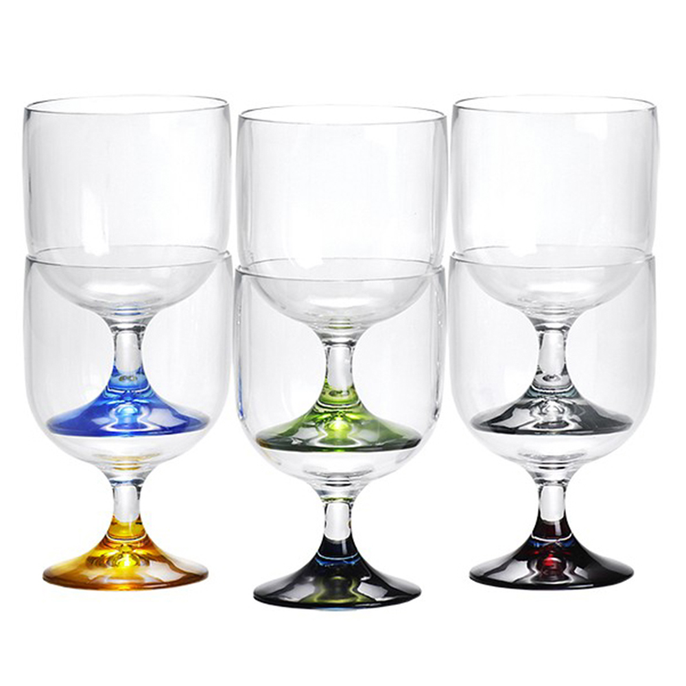 Stackable Wine Glasses - Set of 6