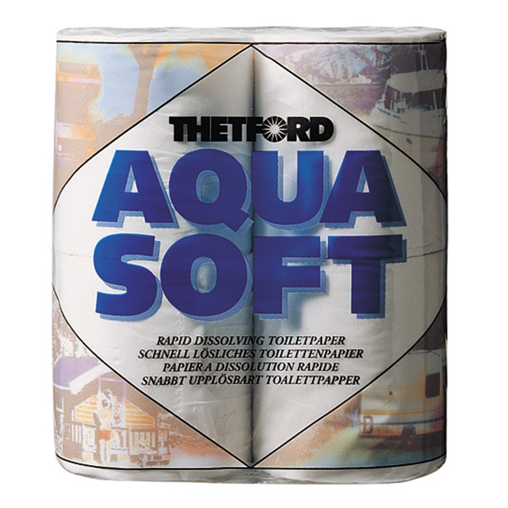 Aqua Soft Toilet Roll - Pack of 4