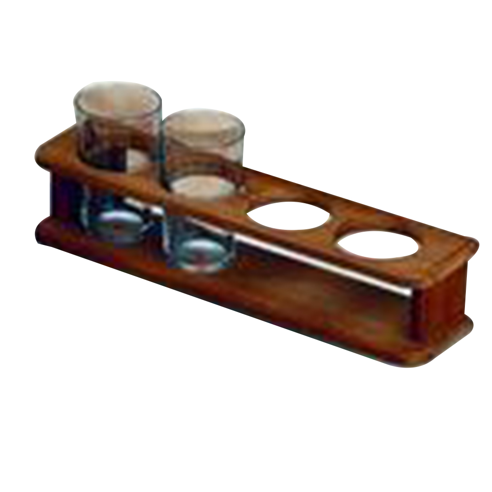 Teak 4 Glass Holder
