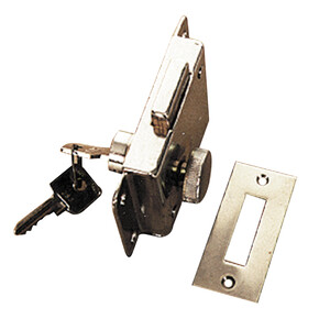 Cabin Door Rim Lock Chrome