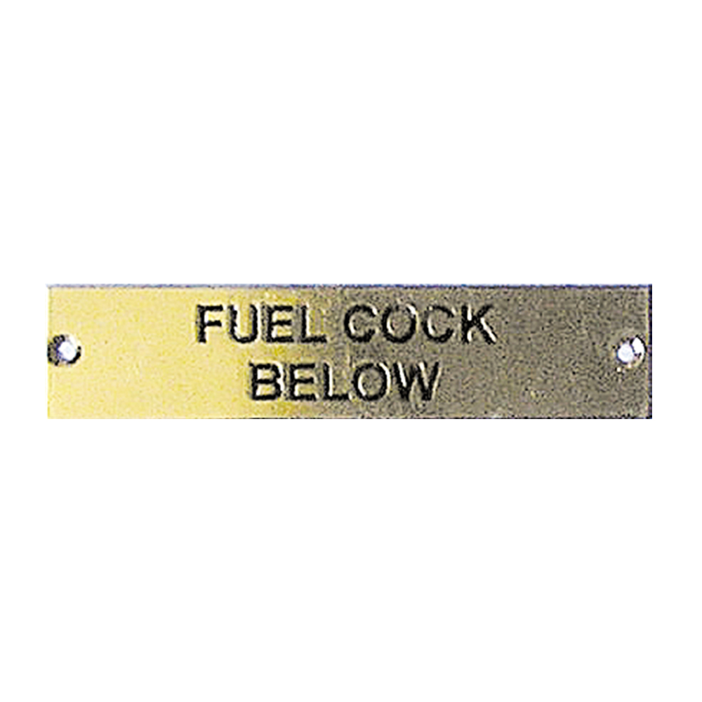 Label - Fuel Cock Below - 75 x 19mm