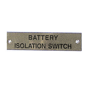 Label - Battery Isolator Switch - 75 x 19mm