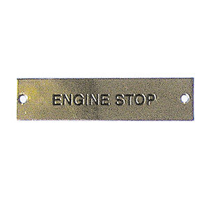 Label - Engine Stop - 75 x 19mm