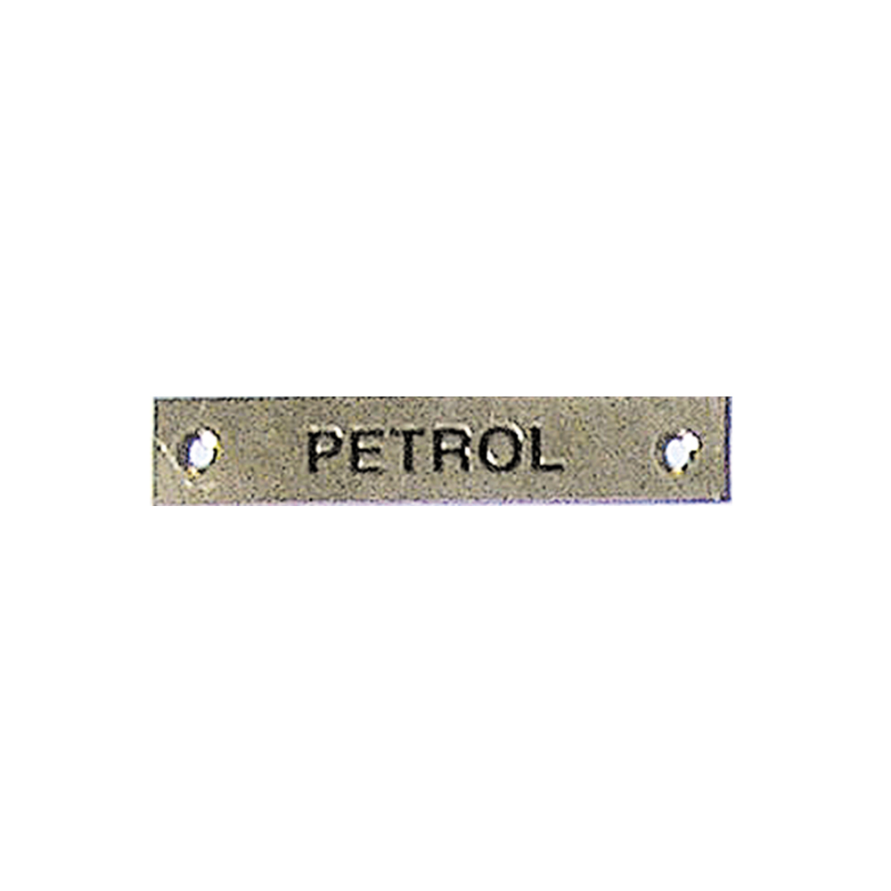 Label - Petrol - 57 x 12mm