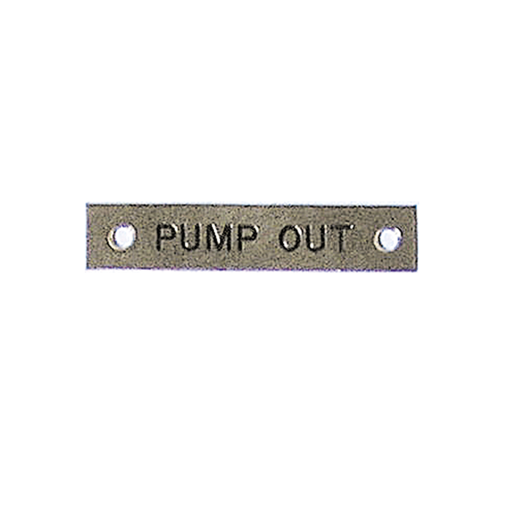 Label - Pump Out - 57 x 12mm
