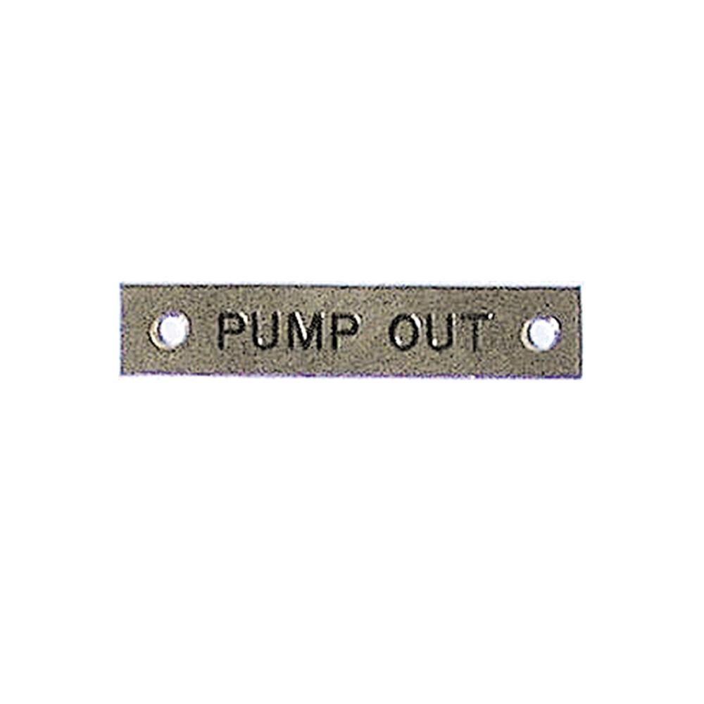 Label - Pump Out - 57 x 12mm