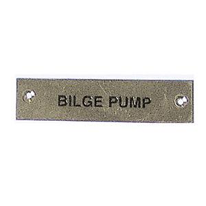 Label - Bilge Pump - 75 x 19mm