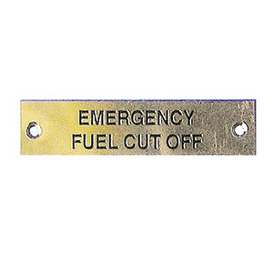 Label - Emergency Fuel Cut Off - 75 x 19mm