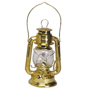 Hurricane Oil Lamp - Brass