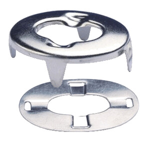 Pack of 10 Eyelet & Clinch Plate for Turn Button