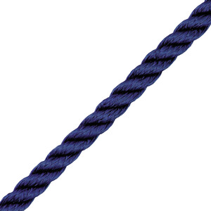 3 Strand Polyester Navy 12mm